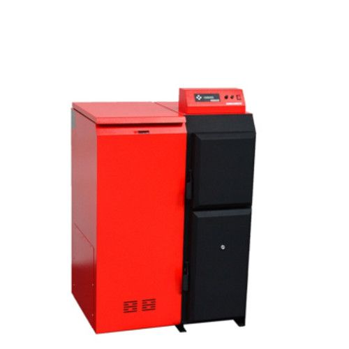 Pelletkessel Pelling 25 ECO mit 25 kW | 75 kg Behälter links