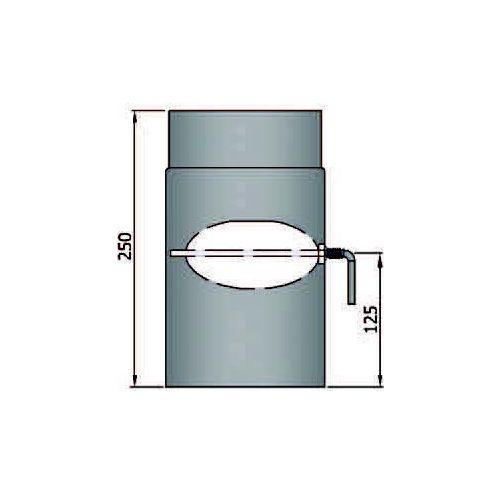 Rauchrohr 250mm mit L Klappe Durchmesser 180mm