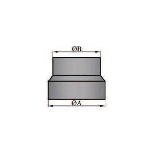 Rauchrohr/Ofenrohr Reduzierung 140/130mm