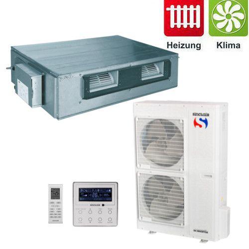 Split - Klimaanlage Kanalgerät Sinclair UNI DC-Inverter 11,5 kW 3Phasig
