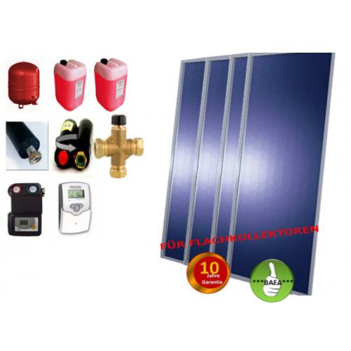 Solardual- Solarpaket Expert (9,68m²) mit Flachkollektor