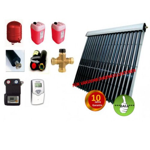 Solardual- Solarpaket Standard (7,28 m²) mit Vakuumröhrenkollektoren
