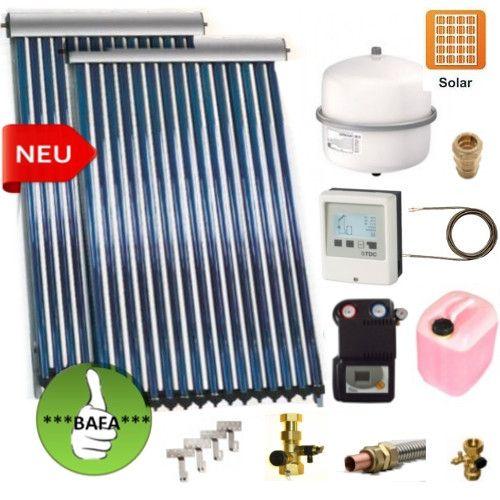 Solarpaket Thermoflux SRC 30-2 mit Vakuumröhrenkollektoren mit 9,1m²