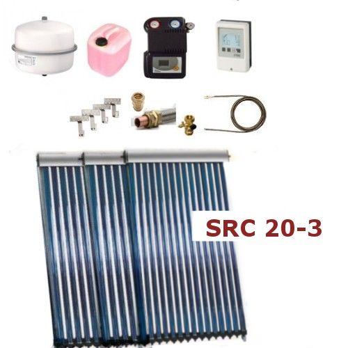 Solarpaket Thermoflux SRC 20-3 mit Vakuumröhrenkollektoren mit 9,33 m²
