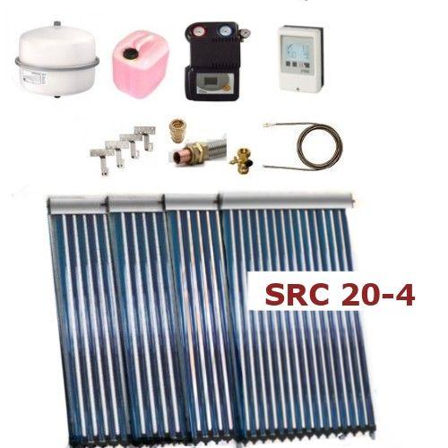 Solarpaket Thermoflux SRC 20-4 mit Vakuumröhrenkollektoren mit 12,44m²