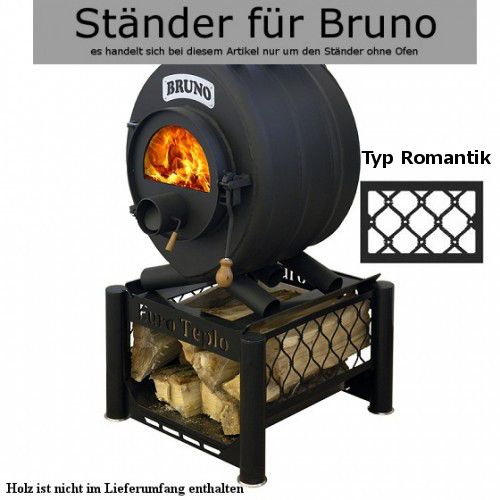 Ständer unter den Ofen BRUNO- Typ Romantik