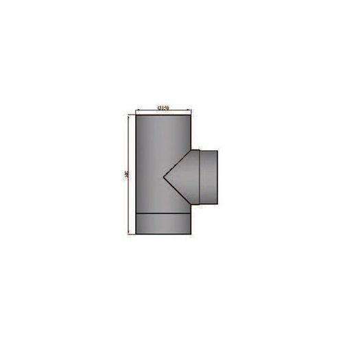 Rauchrohr T-Stück mit Deckel Durchmesser 200mm