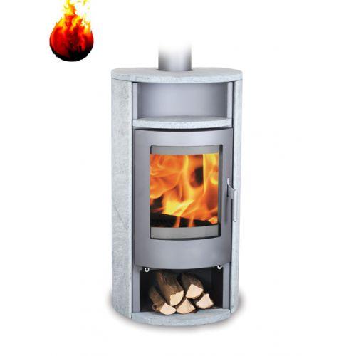 Warmluft Kaminofen Florida Tinjan 6,5 kW Speckstein