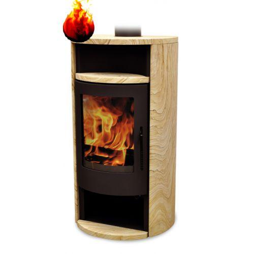 Warmluft Kaminofen Florida Tinjan 6,5 kW Holzdesign