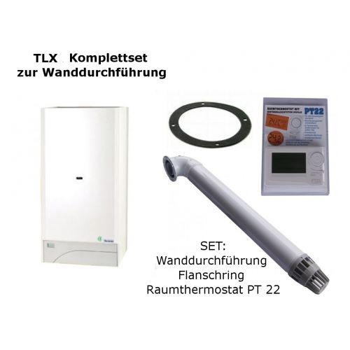 Raumluftunabhängige Gastherme Thermona Therm 20 TLX mit 9 - 20 kW WAND-SET
