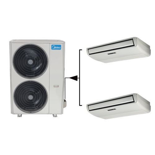 Midea Klimaanlage TWIN MUE-24FNXD0 Flextruhengerät 2x 7,0kW   48000btu