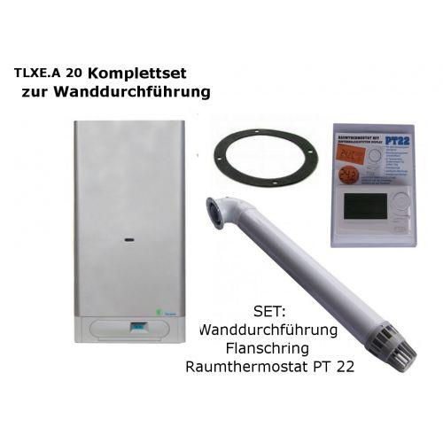 Raumluftunabhängige Gastherme Thermona Therm 20 TLXE.A mit 9 - 20 kW WAND-SET