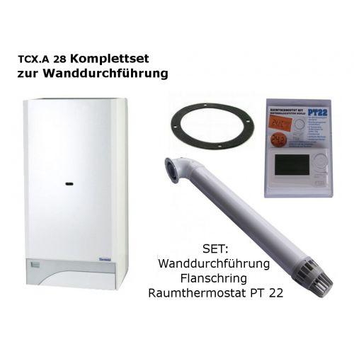 Raumluftunabhängige Gastherme Therm PRO 28 TCX mit 13 - 28 kW WAND-SET