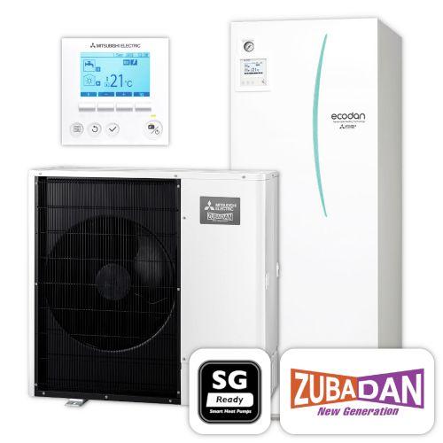 MITSUBISHI   Ecodan Wärmepumpen-Set 5.13   Zubadan Inverter   10,0 kW
