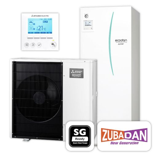MITSUBISHI   Ecodan Wärmepumpen-Set 5.14   Zubadan Inverter   12,0 kW