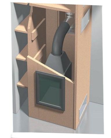 kaminverkleidung kaminbausatz set 2 ebay. Black Bedroom Furniture Sets. Home Design Ideas