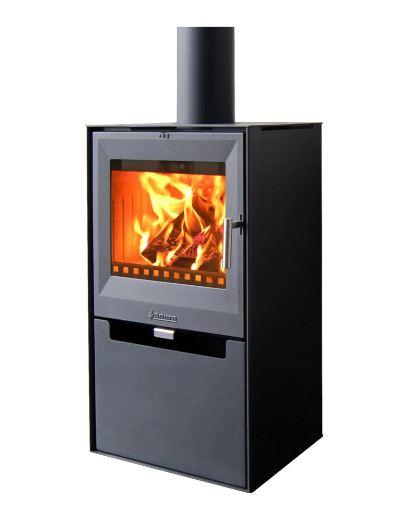 warmluft kaminofen aduro 14 stahl schwarz 6 5 kw mit kubischen design ebay. Black Bedroom Furniture Sets. Home Design Ideas