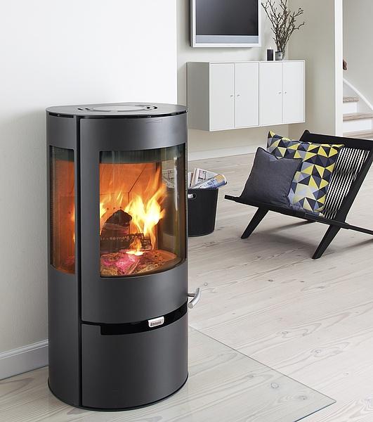 kaminofen aduro 9 air stahl schwarz 6 kw warmluftkaminofen mit 3 sichtscheiben ebay. Black Bedroom Furniture Sets. Home Design Ideas