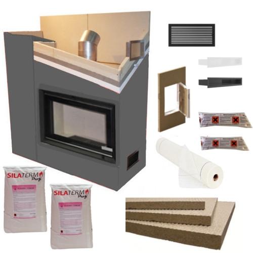 kaminbausatz kaminverkleidung set 3 ebay. Black Bedroom Furniture Sets. Home Design Ideas