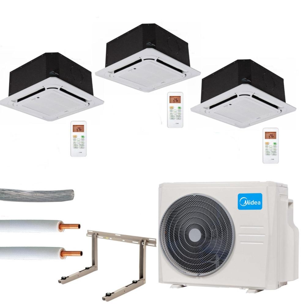 Climatizzazione set completo multisplit midea cassette for Klimaanlage dachmontage
