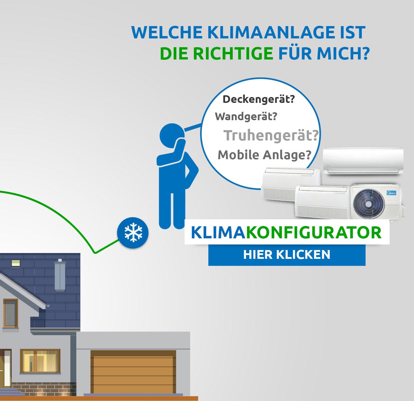 Klimaanalgen Konfigurator