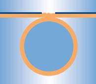 Schnittdarstellung Ultraschallschweißung