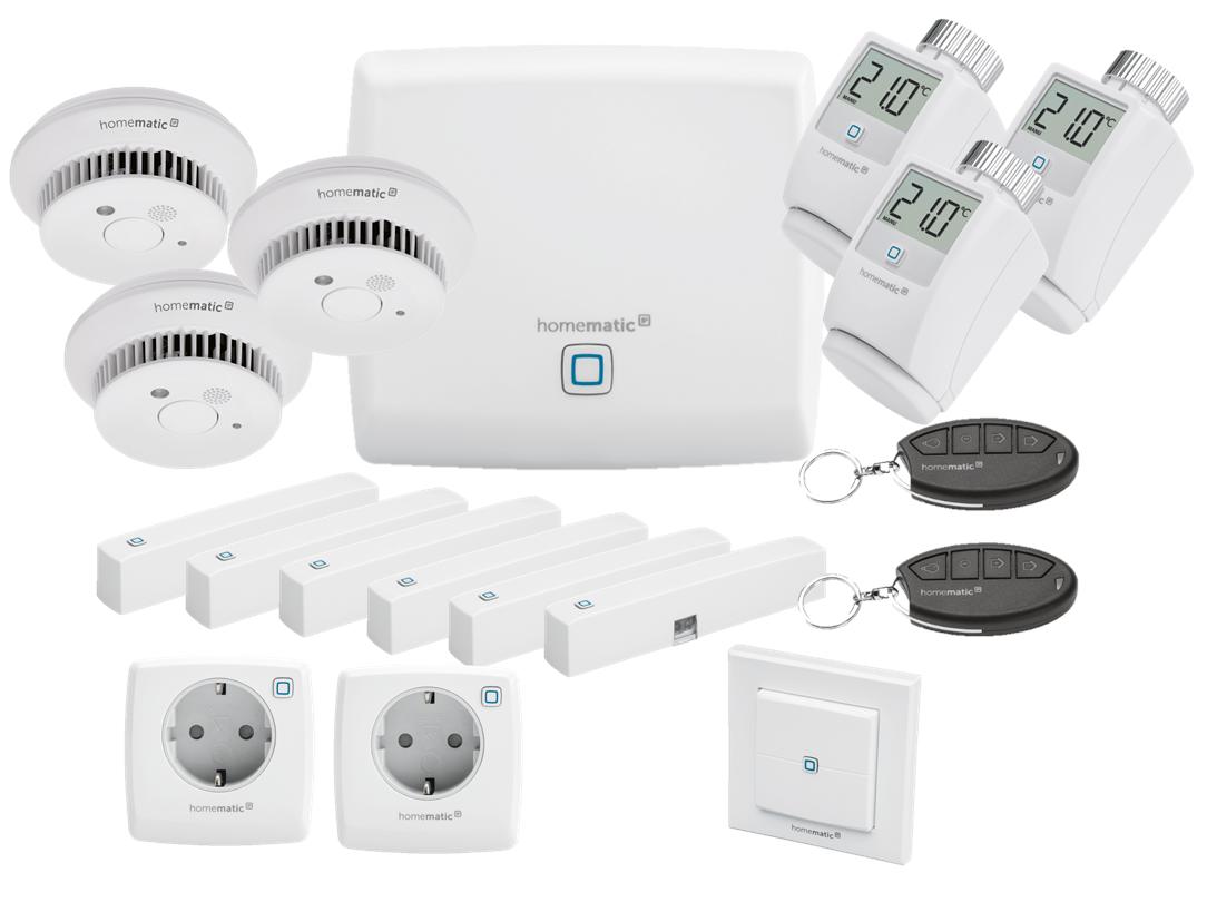 Homematic IP Sicherheit, Raumklima & Licht Set   eQ 20   HmIP EK 20